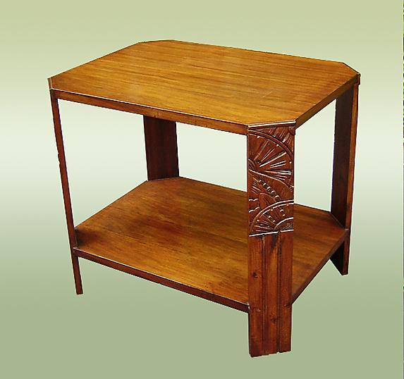 Wonderful 1930s LARGE Art Deco side table carved legs