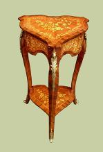 Elegant marquetry French Louis XV style side table