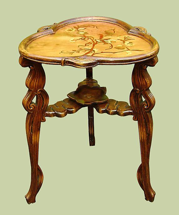 Gorgeous Art Nouveau style Marquetry TABLE Galle design