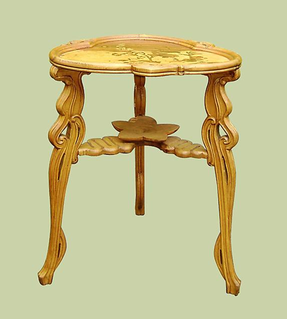 Magnificent Galle Art Nouveau style TABLE dragonfly