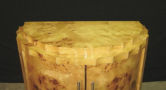 Extraordinary elegant Art Deco forms sideboard