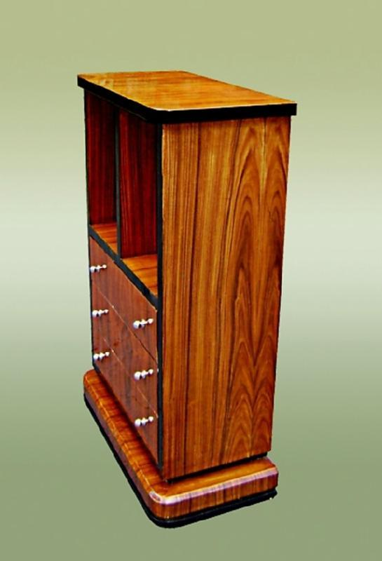 Outstanding  Art Deco Style Rosewood Tall Boy
