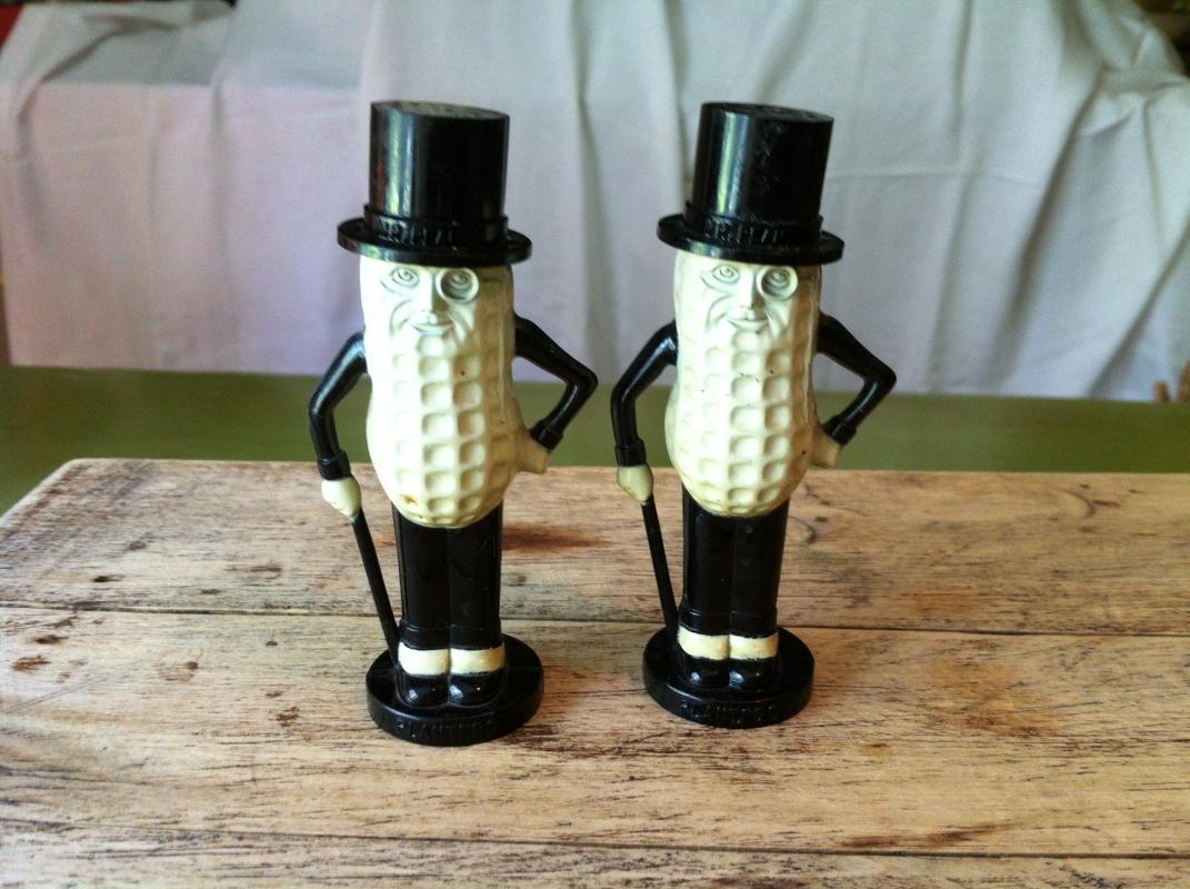Mr Peanut Salt and Pepper Shakers