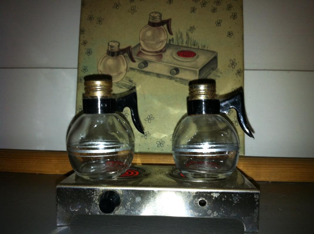 Mini Coffee Pot Salt and Pepper Shaker