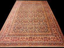 PERSIAN MASHAD DOROUSHT ANTIQUE CARPET/RUG