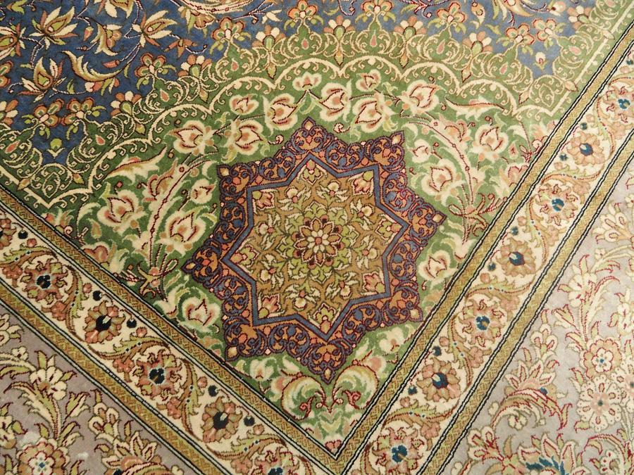 PERSIAN QUM SILK MASTERPIECE CARPET/RUG  SIGNED NAZARI