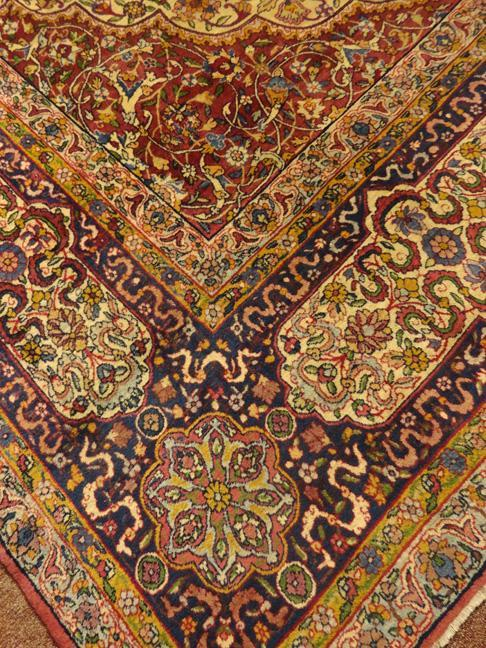 PERSIAN KERMAN ANTIQUE CARPET/RUG