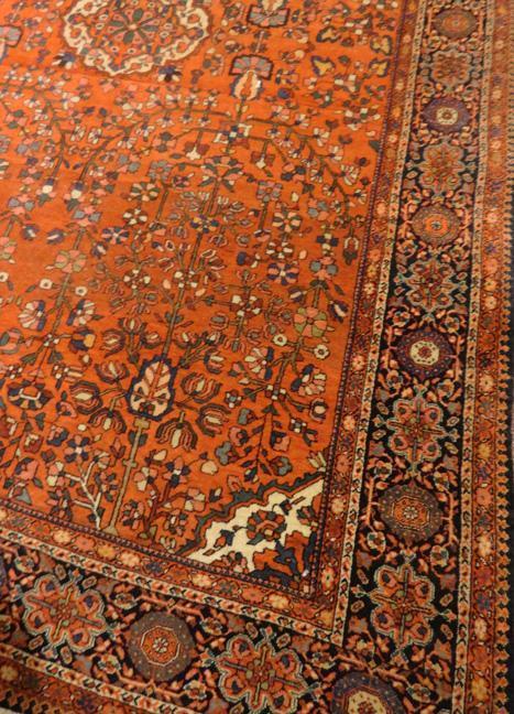 PERSIAN SAROUK FARAHAN ANTIQUE SMALL CARPET/RUG