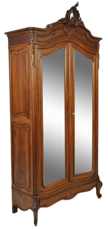 LOUIS XV ARMOIRE DOUBLE DOOR ARMOIRE