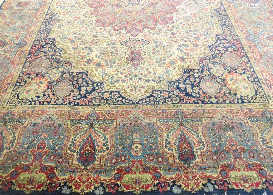 PERSIAN ANTIQUE KERMAN CARPET/RUG 14' x 11'