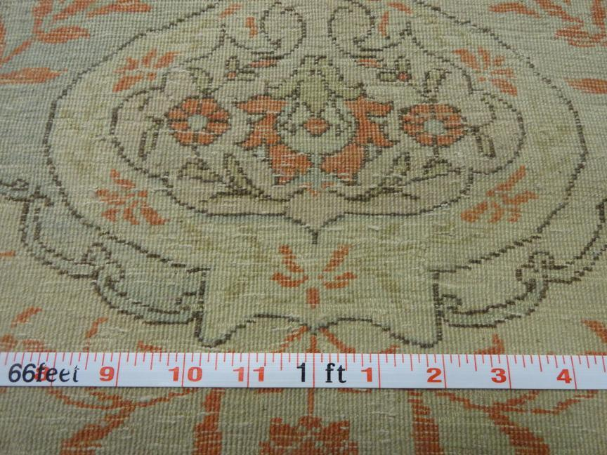TURKISH HEREKE PRAYER WOOL HAND WOVEN SIGNED 6'1
