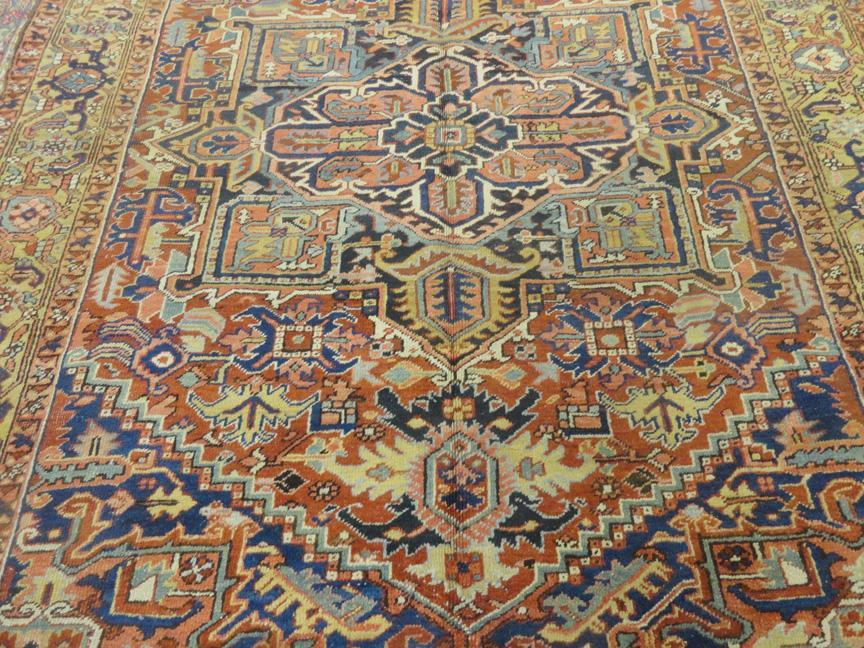 PERSIAN ANTIQUE HERIZ SERAPI CARPET/RUG 10'3