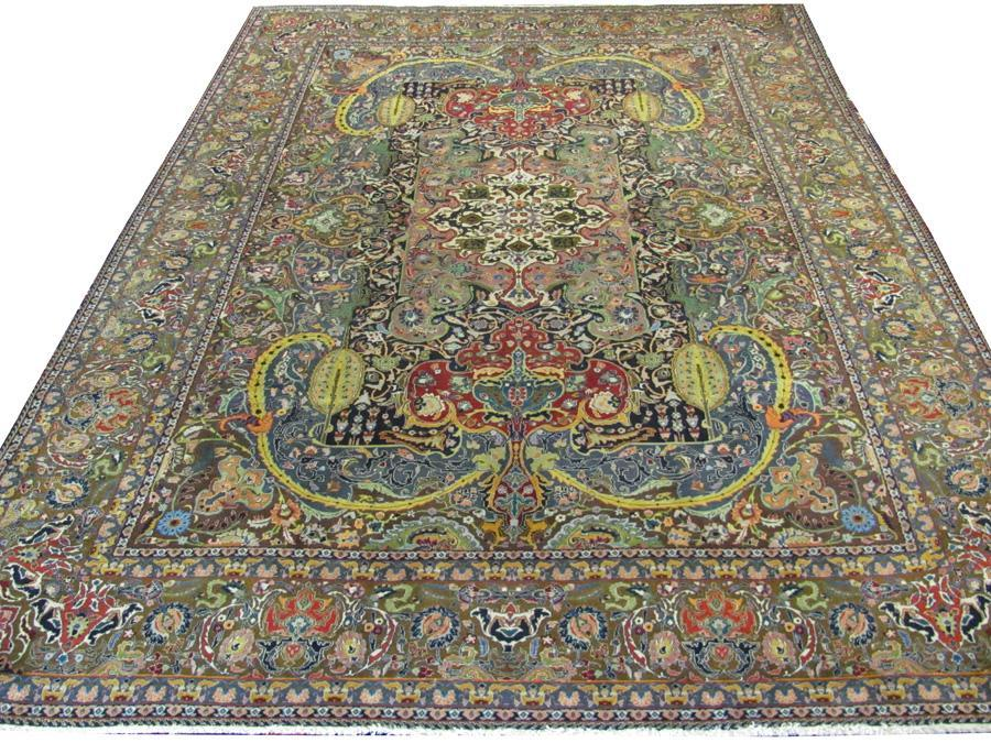PERSIAN TABRIZ GALLATT CARPET/RUG ONE-OF-A-KIND 11' x 8;