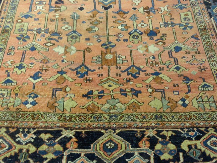 PERSIAN ANTIQUE HERIZ SERAPI CARPET/RUG 12'.3