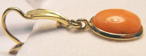 Vintage 14K Gold & Italian Pink Coral Earrings