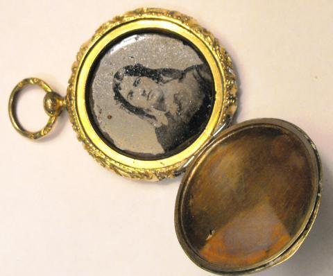 Antique Victorian locket charm.