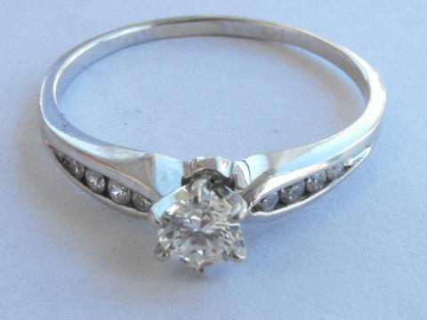 14K WHITE GOLD .75 CT DIAMOND SOLITAIRE RING