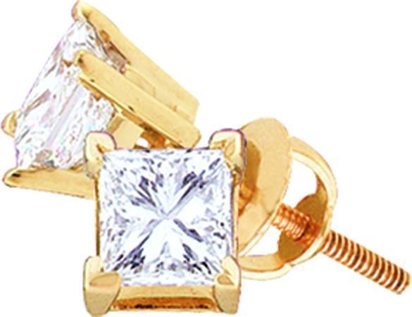 0.15CTW FINE PRINCESS DIAMOND STUDS