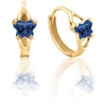 10K Gold Bfly CZ Birthstone Hinged Earrings
