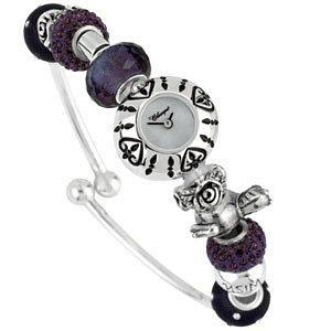 Kera™ Bead Watch Heart Pattern with Black Enamel