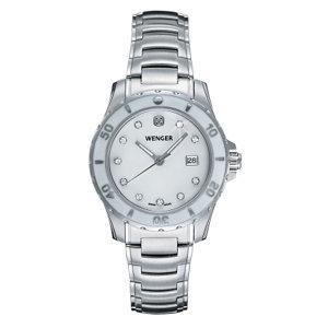 Wenger Ladies Sport White Mother-of-Pearl Dial Stainless Steel Bracelet