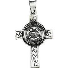U.S. Coast Guard Cross Pendant, Sterling Silver