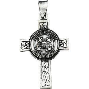 U.S. Coast Guard Cross Pendant, Sterling Silver