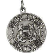 Saint Christopher U.S. Coast Guard Medal, Sterling Silver