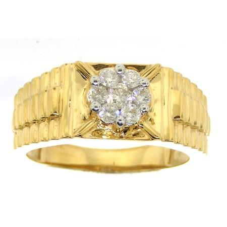 0.50CTW ROUND DIAMOND HIGH MEN'S RING