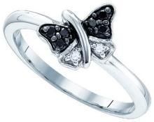 0.11CTW-DIA BUTTERFLY RING