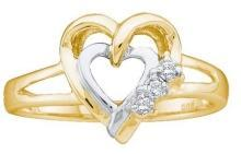 0.03CTW DIAMOND HEART RING