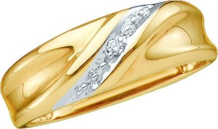 ROUND DIAMOND MEN'S METAL MOLD RING