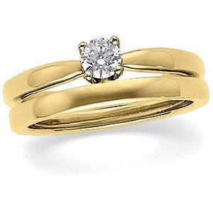 .50 CT Diamond Solstice Solitaire with Bombé Shank 14k Yellow Gold Ring