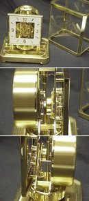 Atmos LeCoultre Perpetual Motion Clock Brass Glass Case