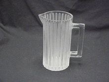 Lalique France Clear & Frosted Glass Water Pitcher 9
