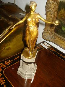 Gilt Bronze Sculpture by Hans Keck, Berlin, Circa 1915