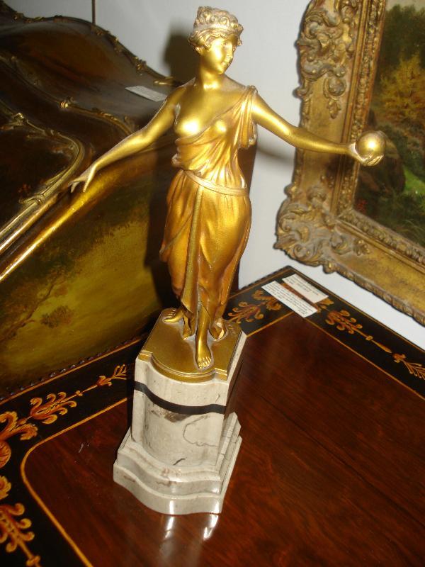 Gilt Bronze Sculpture by Hans Keck, Berlin, Circa 1915