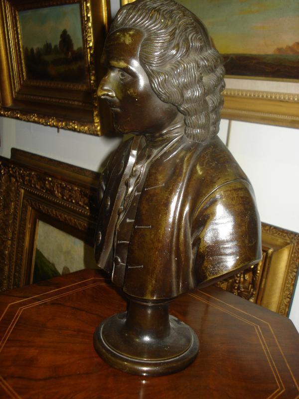 Nineteenth Century Bronze Bust, Male, Signed Cegossen Von C. Mappes, 1841