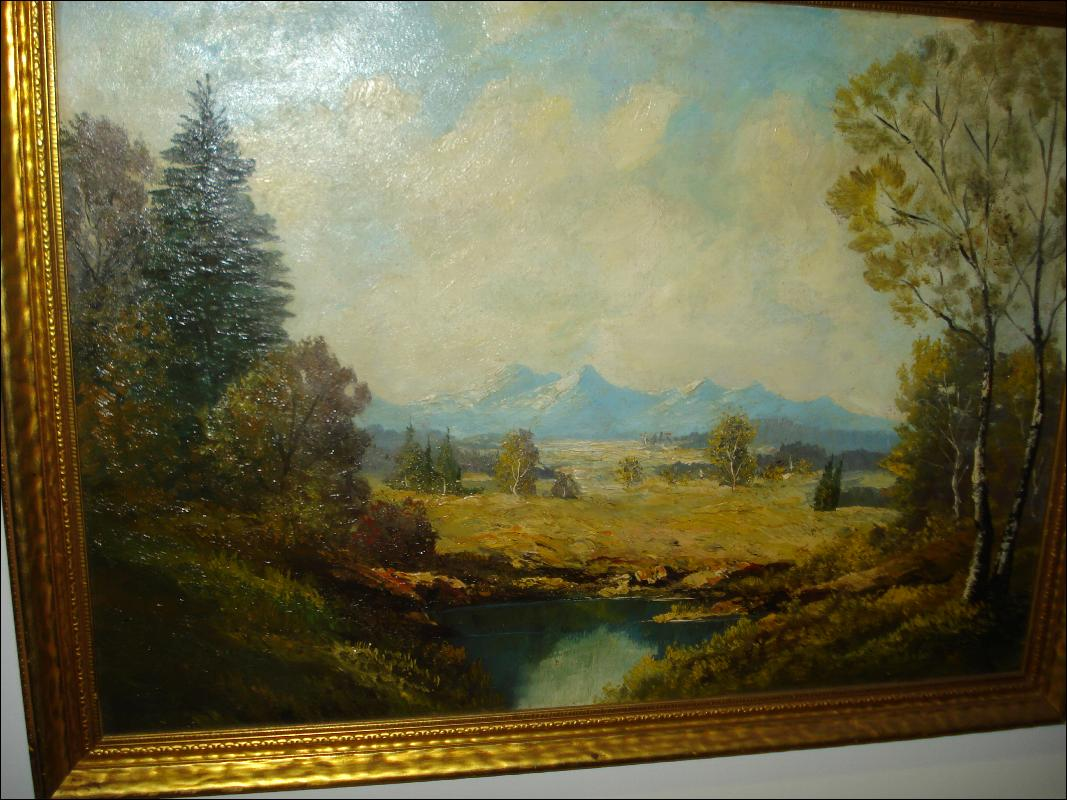 Oil On Board, Unsigned, att. Ernst Huber, Austrian,