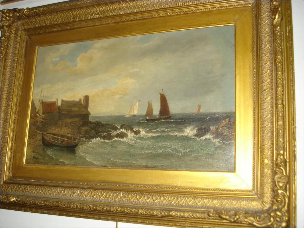 Nineteenth Century British Oil On Canvas by Edmund Thorton Crawford,