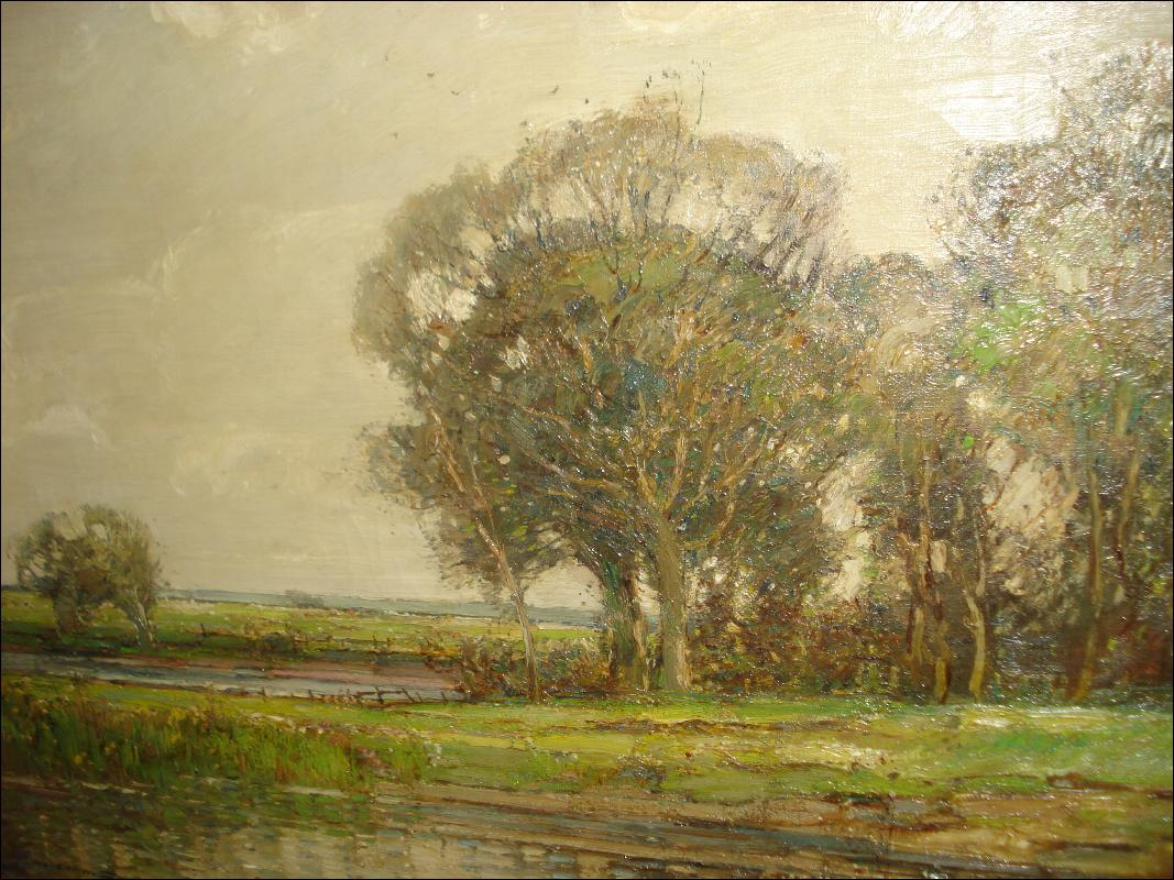 Large Early Twentieth Century Oil On Canvas by Kershaw Schofield, British Artist,