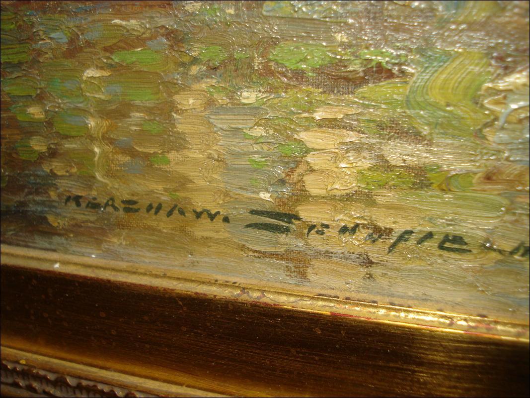 Large Early Twentieth Century Oil On Canvas by Kershaw Schofield, British Artist,
