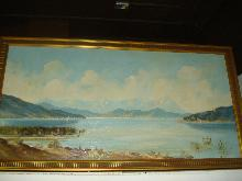 Large Oil On Board signed Huber (Ernst Huber, Austrian, 1895-1960),