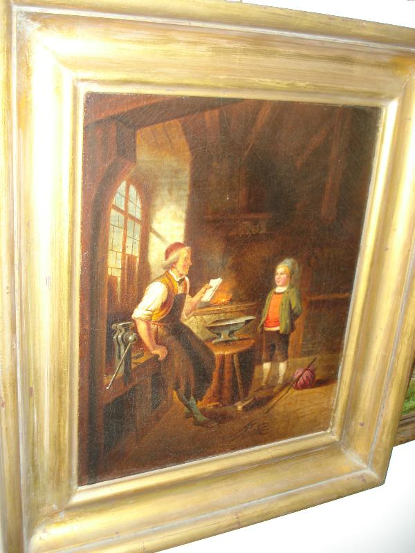 Eighteenth Century Or Earlier Oil On Canvas, Unsigned,