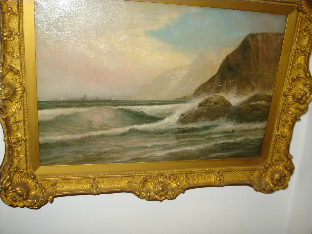 Oil on Canvas Signed Orson Bell, Eoropean, Nineteenth Century