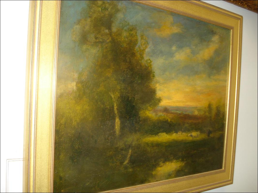 Oil Painting On Canvas Attributed To George Inness, American, Nineteenth Century,