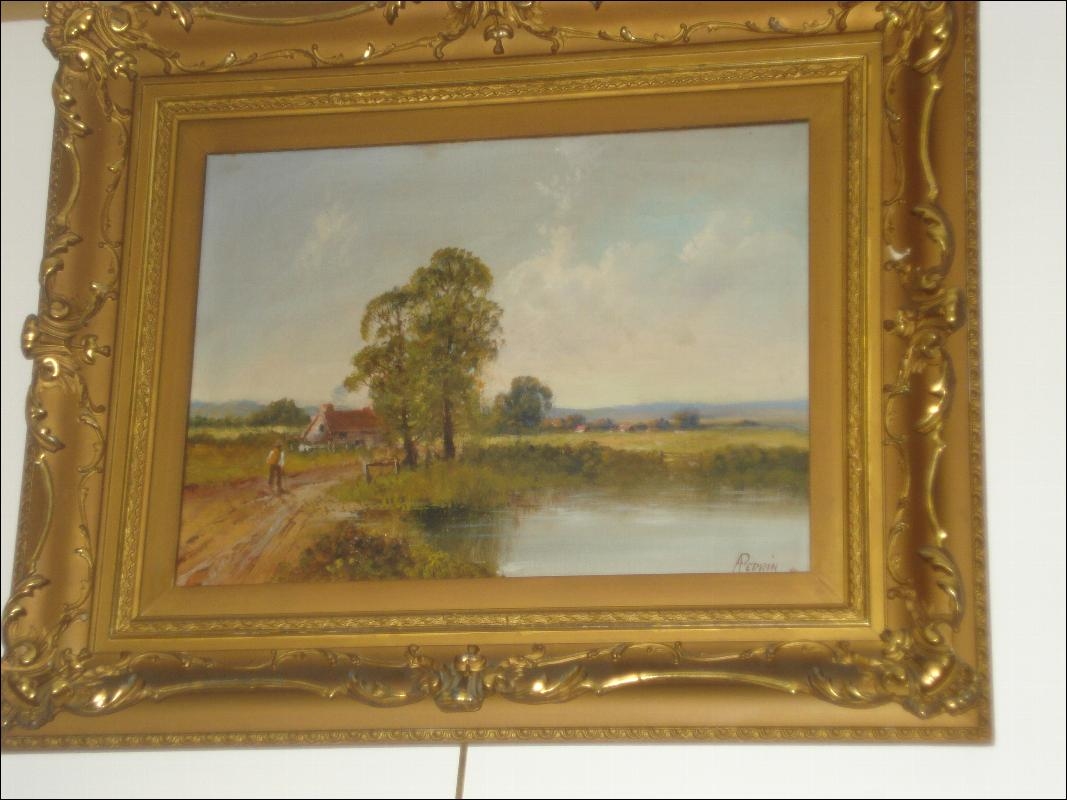 Nineteenth Century Oil On Canvas Signed A. Perrin (Alfred Feyen Perrin), British,