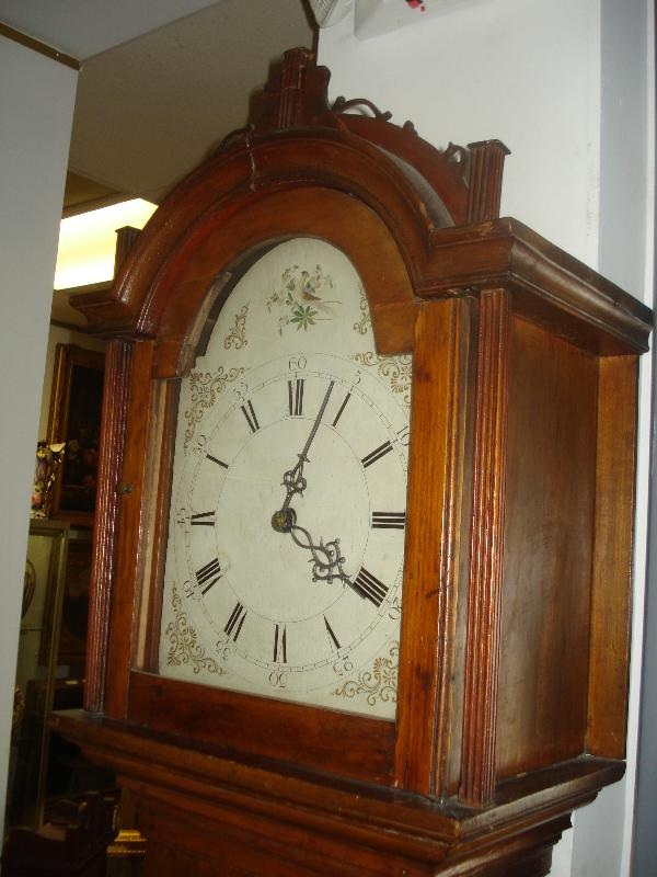 Early Nineteenth Century American Wood Works Tallcase Clock Attributed to Riley Whiting, Winchester, Connecticut