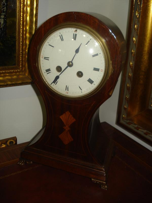 Late Nineteenth Century French Balloon Styled Mantel Clock