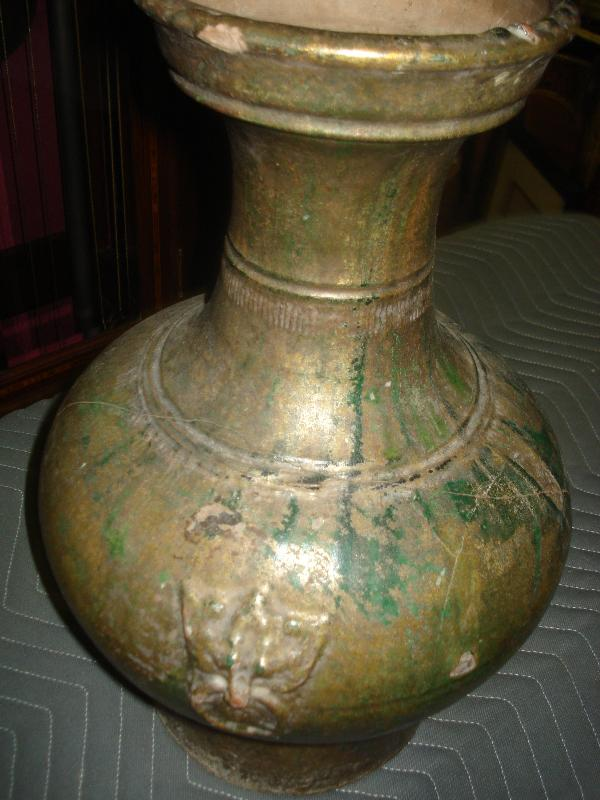 Chinese Han Dynasty Hu In Cucumber Green Glaze
